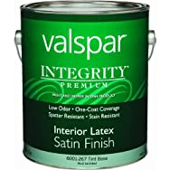 Valspar 004.6001267.007 Integrity Latex Satin Interior Wall Paint And Primer In One Paint