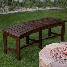 Peachy Buy Coral Coast Cabos Curved Backless Fire Pit Bench Java Lamtechconsult Wood Chair Design Ideas Lamtechconsultcom