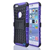 Nancy's Shop Iphone 6 Plus 5.5 Inch [Kickstand] Case,deego New Release [Heavy Duty] Combo Armor Defender [Dual Layer] Grip Case with Prime [Kickstand] for Apple Iphone 6 Plus 5.5'' Screen Smartphone(at&t, Verizon, T-mobile, Sprint,) - (Nancy's Shop Kickstand Case - Purple)
