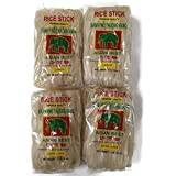 Large/Extra Large 4-pack: Asian Best Rice Stick Noodles, 16 Oz. Packages [2 Of Each]
