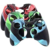 SunAngel® New Silicone Cover Case Skin for Xbox 360 Controller Camo (3 Colors Package)