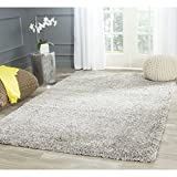 Safavieh California Shag Collection SG151-7575 Silver Area Rug, 8 feet by 10 feet (8' x 10')