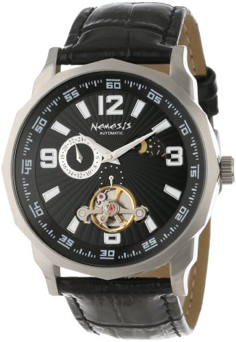 Nemesis Men's L010K Automatic Sun and Moon Display Mechanical Collection Watch