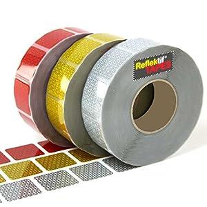 15m Red Reflektif® Reflective Curtain Grade Tape (ece 104) - Segmented Style