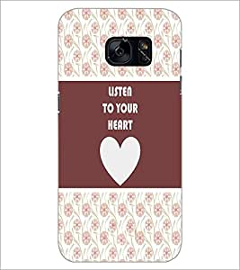 PrintDhaba Quote D-3775 Back Case Cover for SAMSUNG GALAXY S7 (Multi-Coloured)