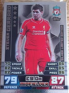 Match Attax Extra 2014/2015 Steven Gerrard Silver Limited Edition 14/15 by Topps