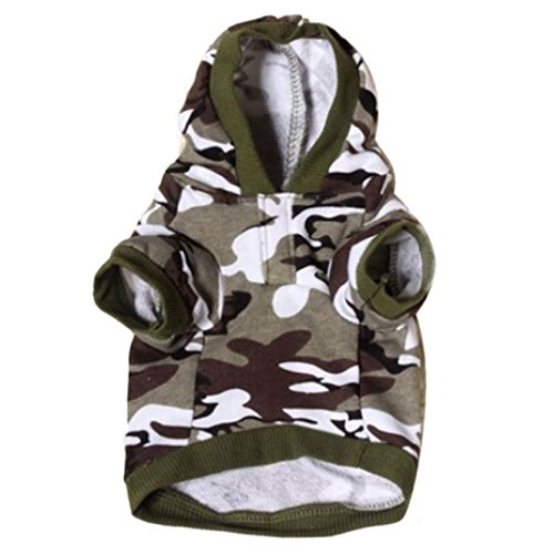 New Pet Dog Cat Camo Clothing Hoody Apparel Puppy Doggy Camouflage Coat (M, A) (Doggy Clothing)