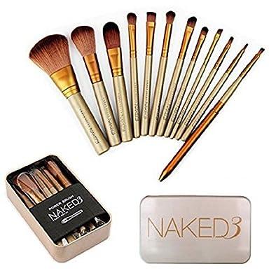 Makeup Brushes Set - CY 12Pcs Professional Bamboo Handle Kabuki Makeup Brushes Foundation Blending Blush Powder Brush Cosmetics Brushes Set with Box