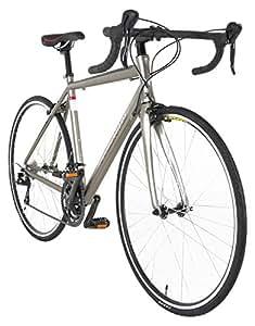 Vilano FORZA 3.0 Aluminum Carbon Shimano Sora Road Bike, Matte Silver, 49cm/Small