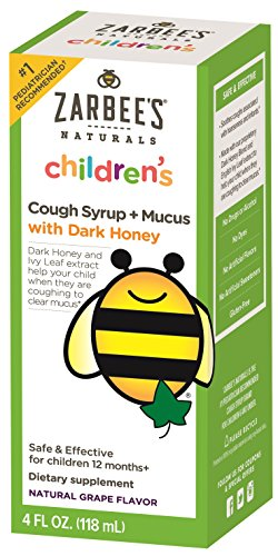Zarbee's Naturals Children's Cough Syrup + Mucus with Dark Honey - Grape, 4 Ounces (Natural Cough Syrup compare prices)