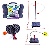 (SFB) deAO® 3 in 1 Sport Set Swingball Reflex Football Soccer, Tennis, Badminton Skill Trainer Kit for Kids