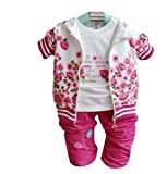 Children's Clothes Baby Girls Fall Three-piece Suit