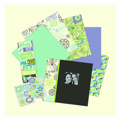 K&Company Scrapbook Kit, Black and White