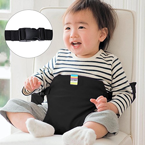 GHB Portable Baby Feeding Chair Belt Toddler Safety Seat with Straps Child Chair Security Light Soft Belt Outdoor Portable Travel High Chair Booster Baby Seat belt