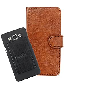 DooDa PU Leather Wallet Flip Case Cover With Card & ID Slots For Panasonic T45 - Back Cover Not Included Peel And Paste