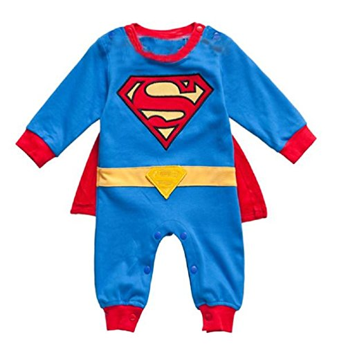 [Spiderman Superman Batman Batgirl Supergirl Baby Fancy Dress Outfit with Cape (80 (6-12month),] (Baby Batgirl Outfit)