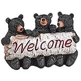 Design Toscano QL58013 Black Bear Cubs Welcome Statue
