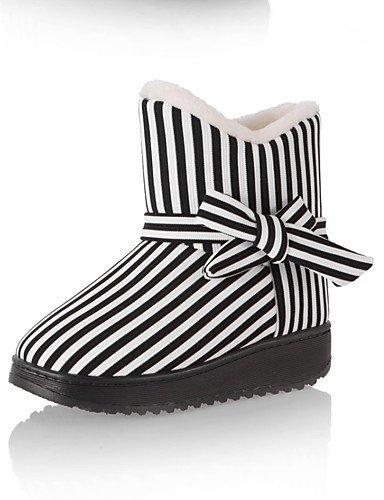 purftree-mujer-tacon-plano-botas-de-nieve-botas-exterior-casual-vellon-negro-rosa-rojo-bermellon-bur