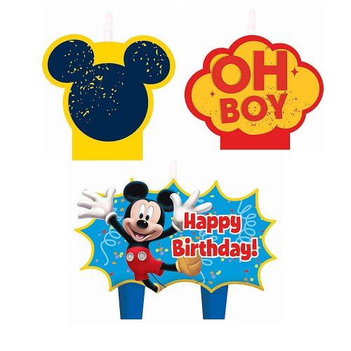 Mickey Mouse Birthday Candles - Birthday and Theme Party Supplies - 4 Per Pack - 1