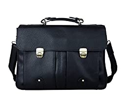 messenger bags for men, Vintage soft Leather Briefcase Crossbody Laptop Shoulder Bag Tote-Large Capacity, Holds Holds Notebook Computer up to 16 Inches