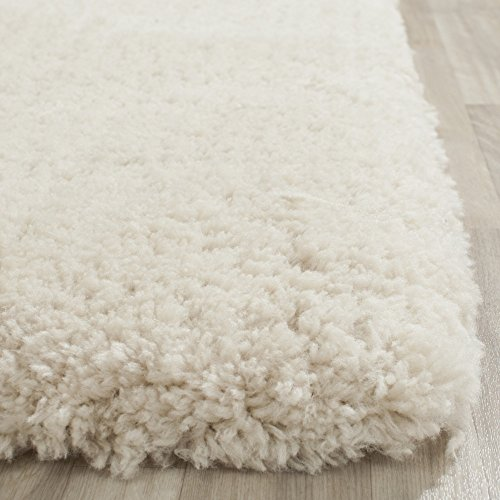 Safavieh Arctic Shag Collection SG270V Handmade Beige Shag Area Rug, 8 feet 6 inches by 12 feet (8'6