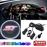 Generic 2 x 5W LED Car Ghost Shadow Lights For Ford Focus ST Fiesta ST