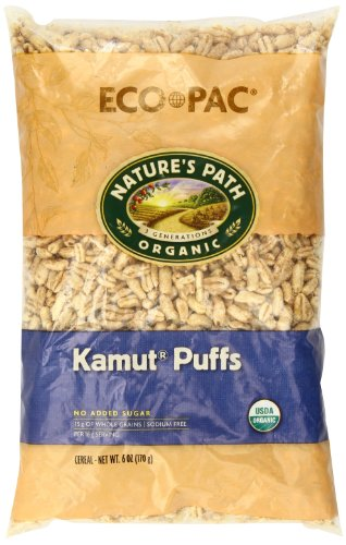 Nature's Path Organic Kamut Puffs Cereal, 6-Ounce Bags (Pack of 12) (Wheat Free Market Baking Mix compare prices)