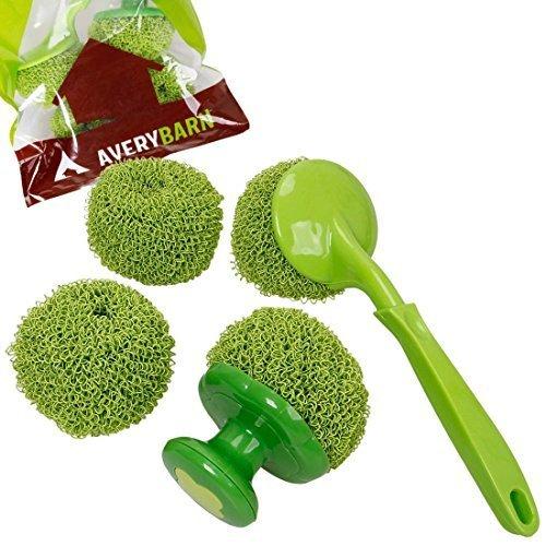 avery-grange-4pc-cuisine-nettoyage-tampon-a-recurer-et-vaisselle-brosse-balle-outils-paquet