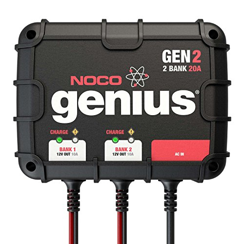 NOCO Genius GEN2 20 Amp 2-Bank Waterproof Smart On-Board Battery Charger (Cycle Charger compare prices)