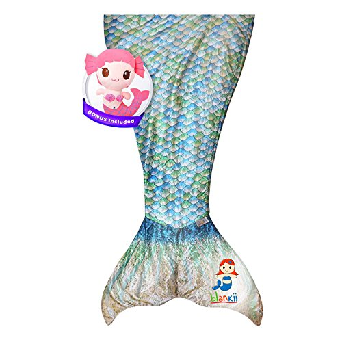 Discover Bargain Blankii Mermaid Tail Blanket For Kids - Cute, Super Soft & Cuddly Minky Fleece ...