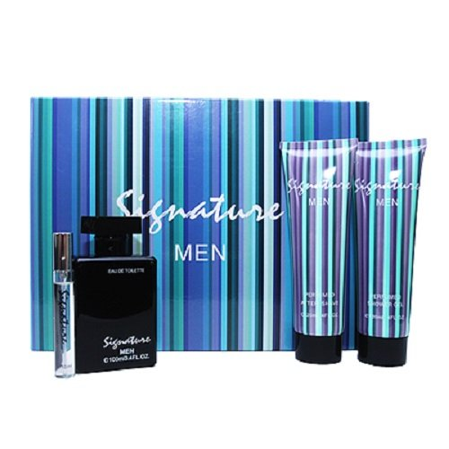 Signature <strong>Men< strong> 4 Piece <strong>Fragrance Gift Set< strong>