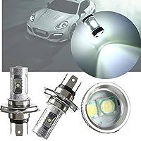 AUDEW 2X 30W Xenon White H4 HB2 9003 LED High/Low Beam Headlight Fog Lamps Bulbs 12V Car Lamp