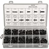 Disco Automotive 8119 Black Nylon Push-Type Retainer Assortment