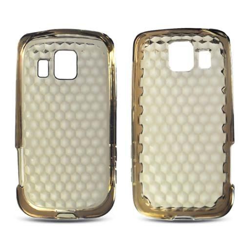 Lg Ls670, Ux670 Optimus S/U Soft Skin Case Transparent Hexagonal Pattern Smoke Tpu Skin At&T (Does Not Fit Lg P509 Optimus T)