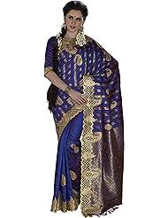 Anvika Women's Silk Saree (110000000072, Blue)