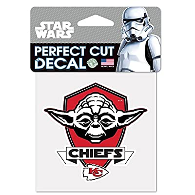 Kansas City Chiefs Official NFL 4 inch x 4 inch Star Wars Yoda Die Cut Car Decal by Wincraft 401977