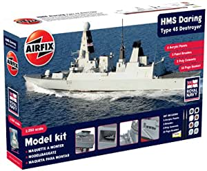 Airfix 1:350 HMS Daring Type 45 Destroyer Gift Model Set