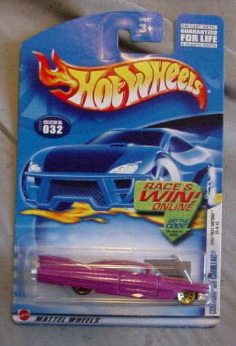 Hot Wheels 2002 First Edition Custom '59 Cadillac 20/42 #032 #32 MAGENTA 1:64 Scale