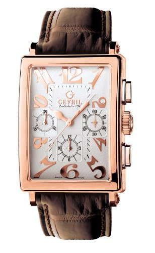 Gevril Men's 5110 Rose Gold Avenue of Americas Automatic Chronograph Watch