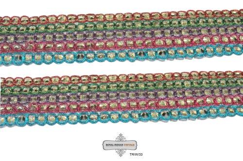 encajes-gota-multicolor-frontera-sari-indio-cinta-embarcaciones-encajes-sari-tela-tela-reciclada-rec