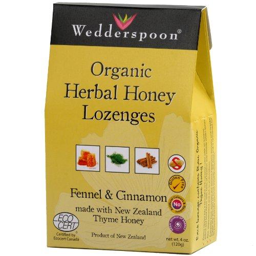 Wedderspoon Organic Herbal Honey Lozenge With Fennel And Cinnamon