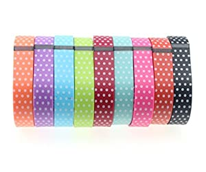 New Laser Set 9 Colors Replacement Bands for Fitbit FLEX