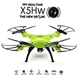 REALACC X5HW WIFI FPV Quadcopter With Camera 2.4G 4CH 6Axis High Hold Mode Remote Control Toy Quadcopter Drone RTF Mode 2