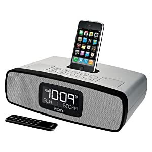 ihome ip90sz dual alarm clock radio for ipod and iphone mp3 play. Black Bedroom Furniture Sets. Home Design Ideas