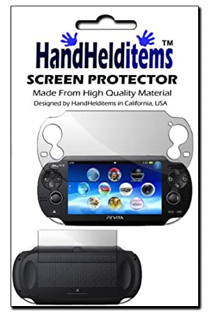 HHI Sony Playstation PS Vita Dual Anti-Fingerprint, Anti-Glare, Matte Finishing Screen Protector (Front and Back Protector) (Package include a HandHelditems Sketch Stylus Pen)