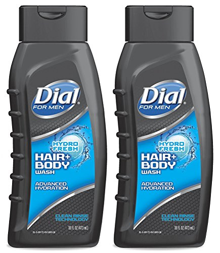 Dial for Men Hair and Body Wash, Hydro Fresh, 16 Ounce (Pack of 2) (Dial Mens Hair And Body Wash compare prices)