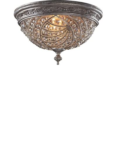Artistic Lighting Renaissance 4-Light Flush-Mount Ceiling Fixture, Sunset Silver