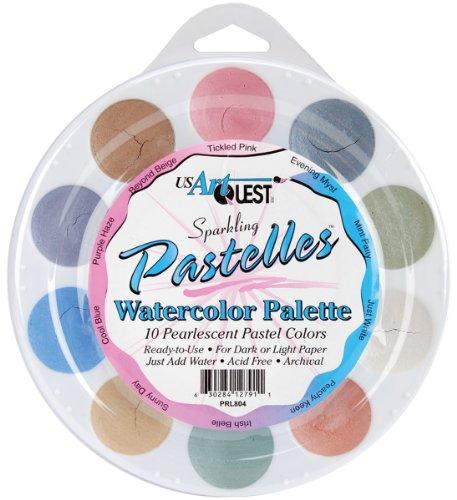 US Artquest Jewelz Watercolor Palette, Pastelles