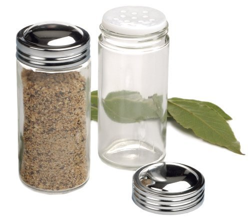 RSVP Clear Glass Spice Jar, Set of 6 (Replacement Spice Rack Jar compare prices)