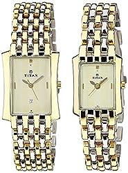 Titan Bandhan Analog Gold Dial Couple Watch - NC19272927BM02